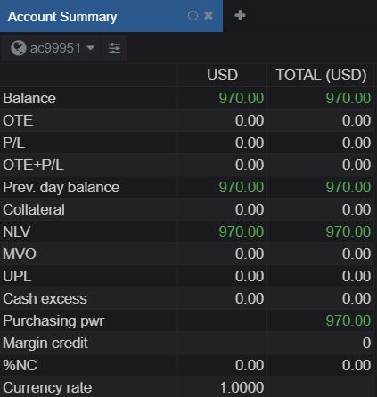 CQG Desktop Account Balance 7