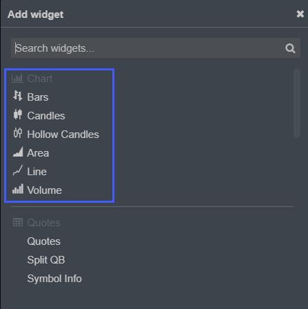 CQG Desktop Chart Type 1
