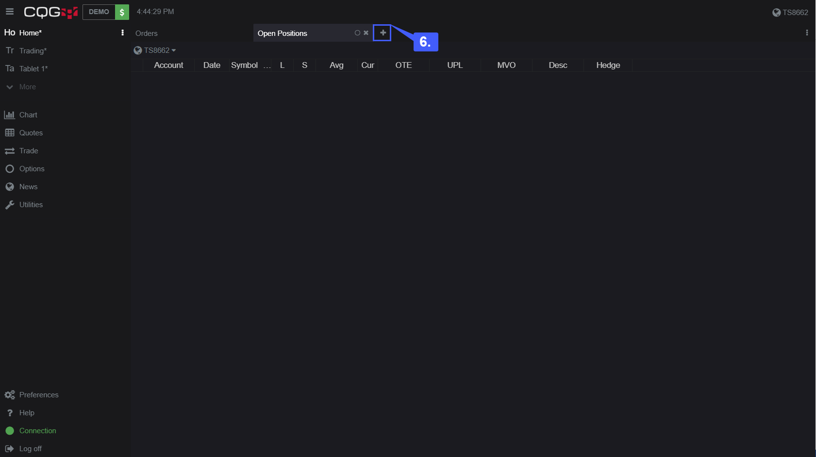 CQG Desktop Trade Activity 6