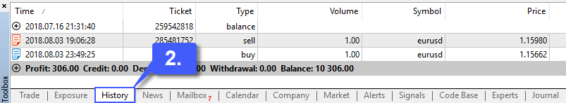 MT5 Account Balance 3