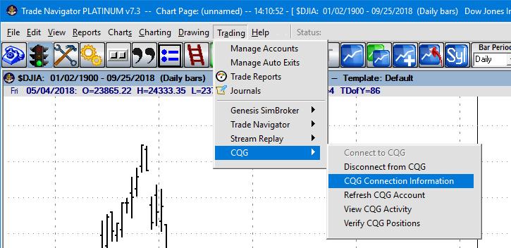 TradeNav Live data 13