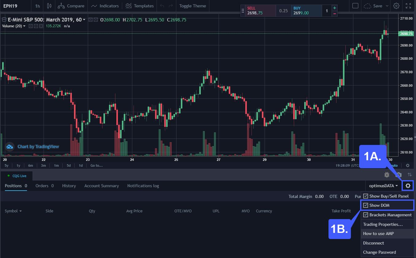 TradingView DOM 1